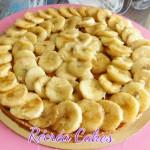Bananes rôties , fond de tarte speculoos
