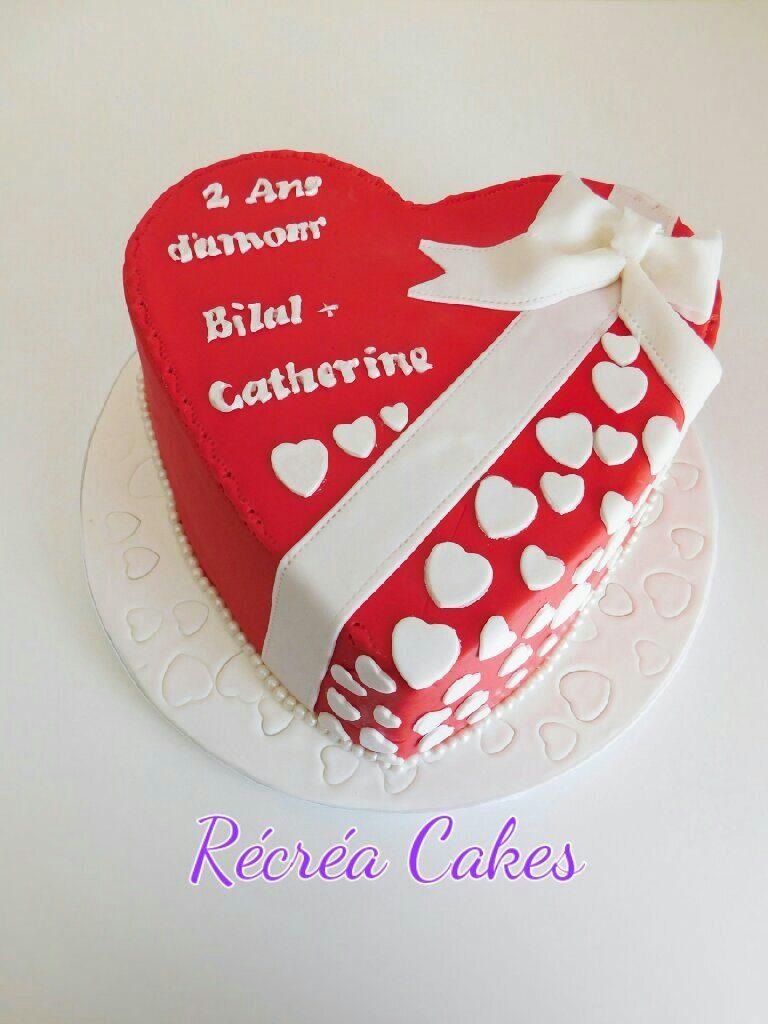 Gâteau chocolat en forme de coeur ( cake design)